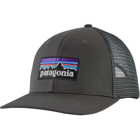Patagonia P-6 Logo Casquette trucker, forge grey